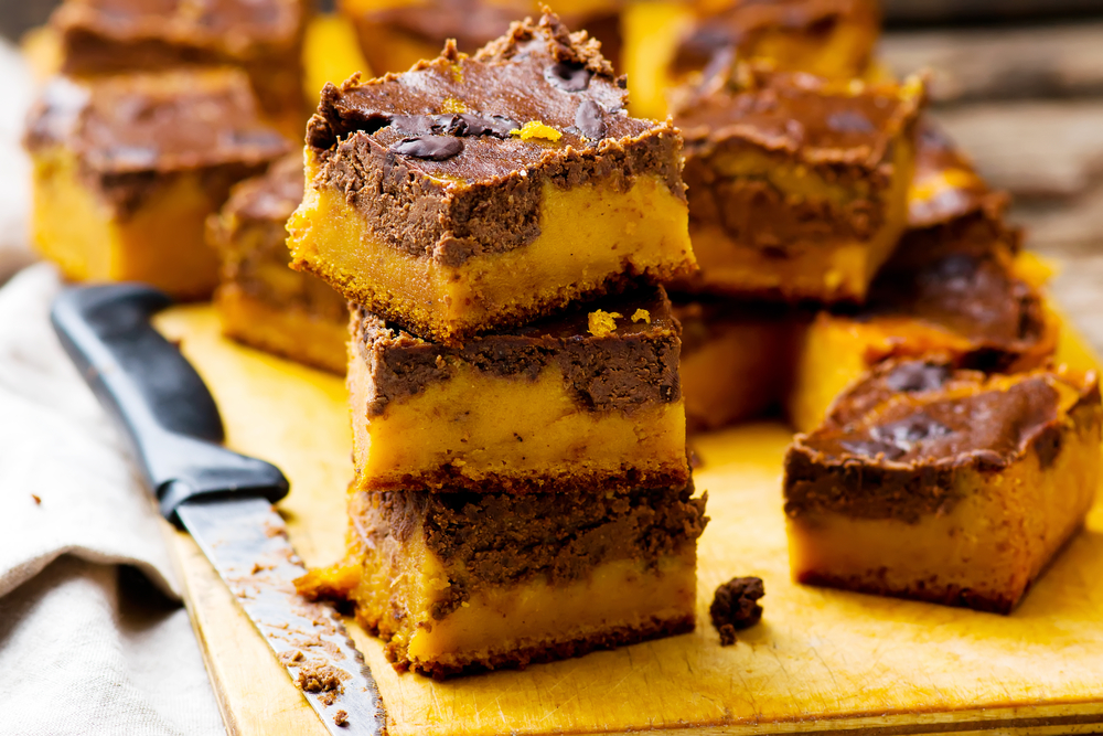 Paleo Pumpkin Chocolate Squares