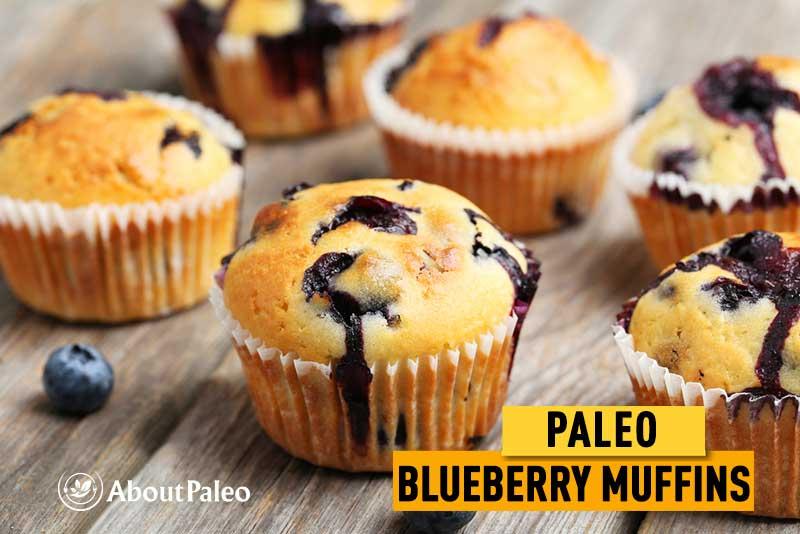 paleo gluten free blueberry muffins