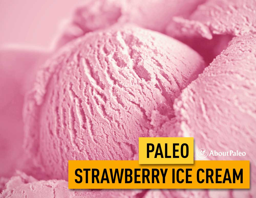 Paleo strawberry ice cream
